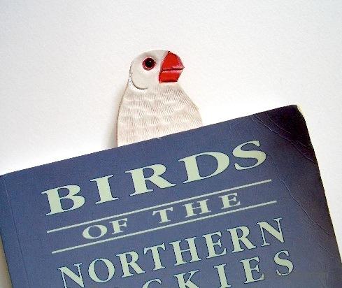 白文鳥 しおり レザー 革 文鳥 鳥グッズ 鳥 インコ プレゼント