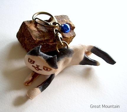 島猫シリーズ しまねこ ネコ キーホルダー 革 レザー 猫 ねこ 名前無 ネコグッズ