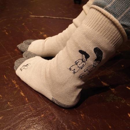sanaepオリジナルプリント靴下