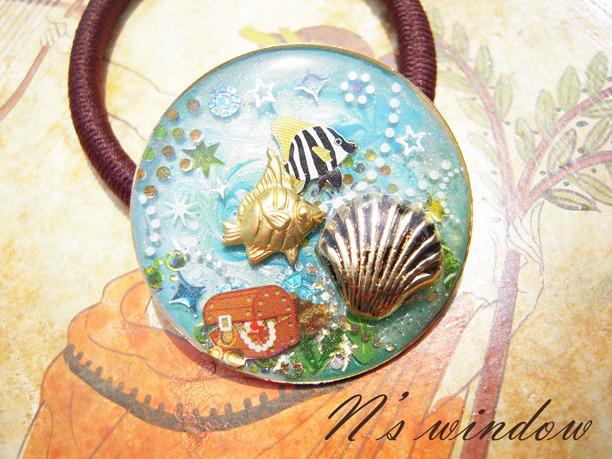 海の財宝のヘアゴム