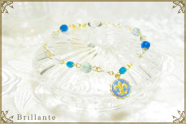 lily emblem bracelet(blue)