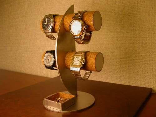 彼女へのプレゼントに! 三日月ムーン腕時計ディスプレイスタンド!角トレイバージョン ak-design