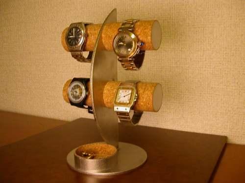 結婚祝いに! 三日月腕時計ディスプレイスタンド!丸いトレイバージョン ak-design