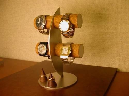 カップルに!三日月腕時計ディスプレイスタンド!リングスタンド付き ak-design