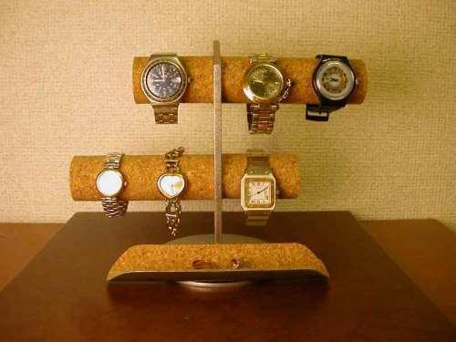 プレゼントに! 6本掛け腕時計スタンド ロングトレイタイプ  ak-design