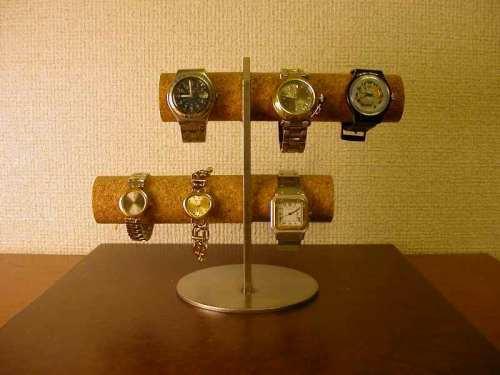 腕時計愛好家に! 6本掛け腕時計スタンド  ak-design