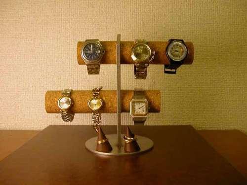 誕生日プレゼントに! 6本掛け腕時計スタンド  リングスタンド ak-design