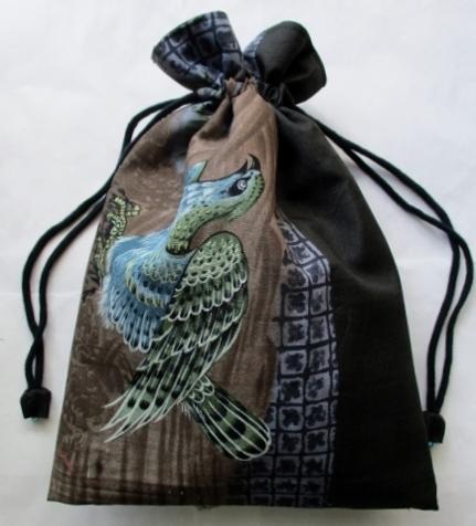 着物リメイク モスの長襦袢で作った和風財布 1786