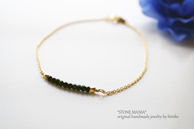 ?X'mas★Noir bracelet?ブラックスピネ...