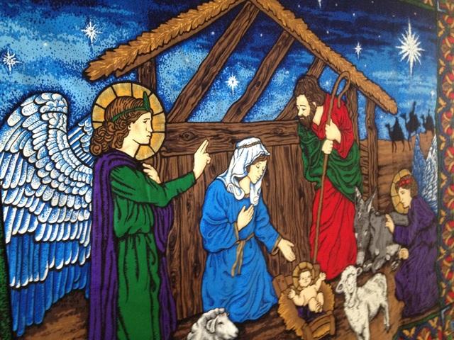 大きなクリスマスタペストリー『ベツレ...