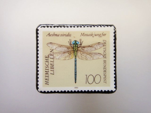 ドイツ  切手ブローチ1451