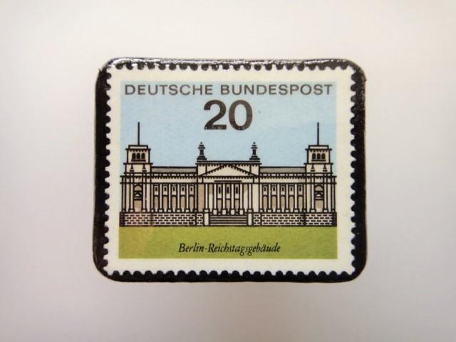 ドイツ  切手ブローチ1453
