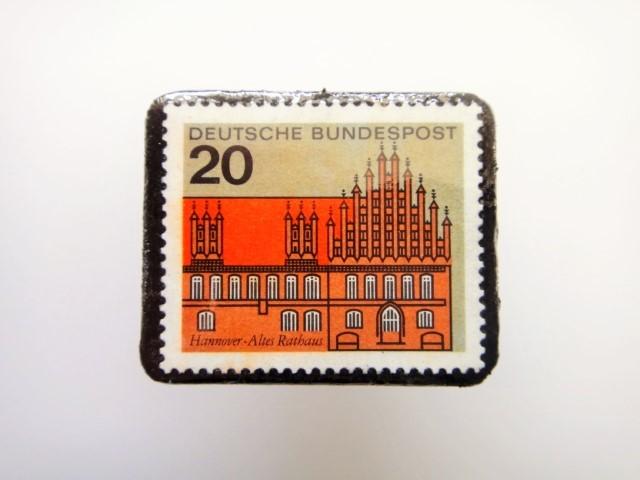 ドイツ  切手ブローチ1455