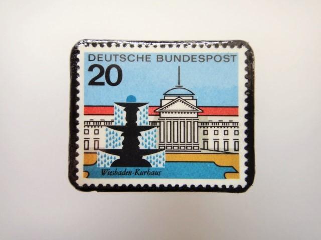ドイツ  切手ブローチ1456