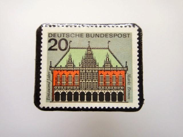 ドイツ  切手ブローチ1458