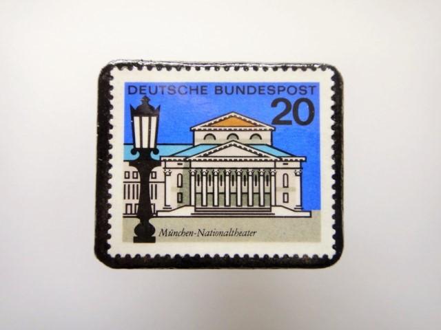 ドイツ  切手ブローチ1459