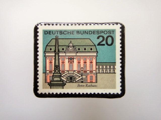 ドイツ  切手ブローチ1460