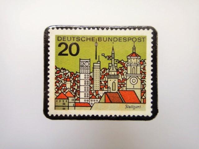 ドイツ  切手ブローチ1461
