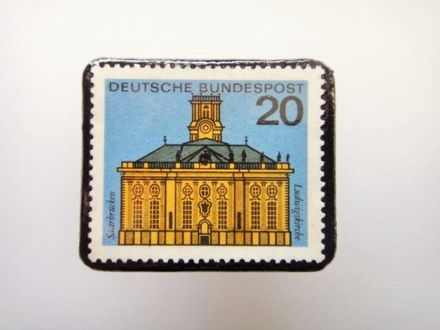 ドイツ  切手ブローチ1462