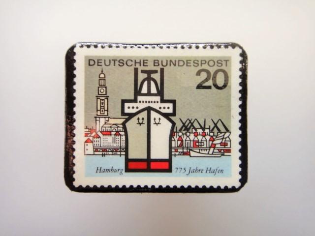 ドイツ  切手ブローチ1463