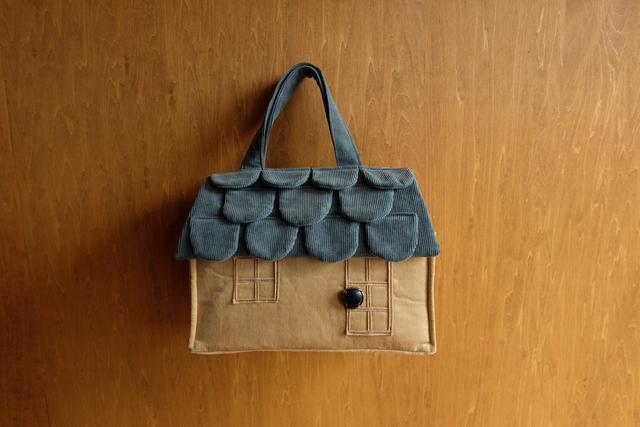 OUCHI box bag S ロング ブルーグレー屋根