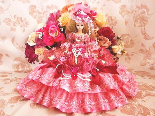 2b41c0b583d6e SOLD ジェニー 薔薇の花園 プリンセス ドレス ストロベリー ピンクレース ...
