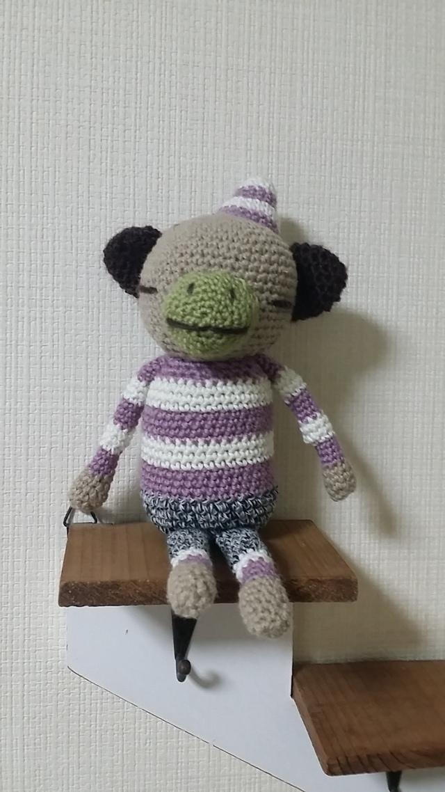 とんがり帽子∞サル(紫)∞
