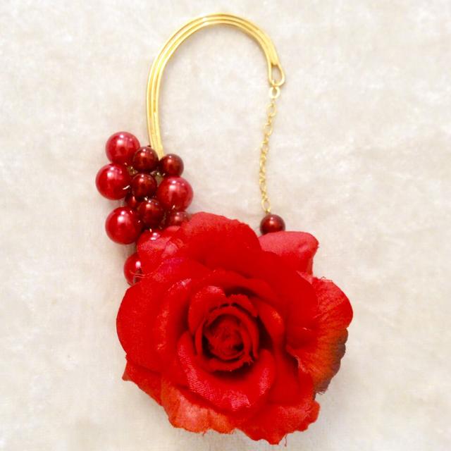 イヤーフック『血色の薔薇』