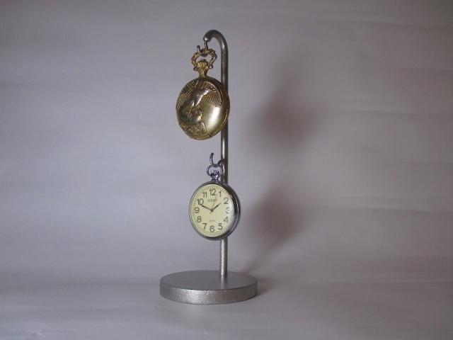懐中時計スタンド 新作 上下2本掛け懐中時計ディスプレイスタンド ak-design
