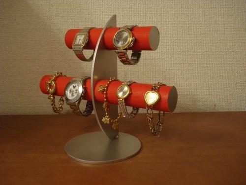 プレゼントに! レッド三日月6本掛け腕時計スタンド スタンダード ak-design