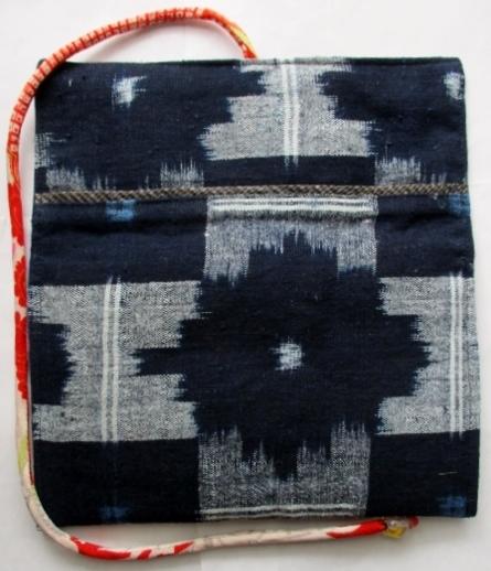 着物リメイク 絣で作った和風財布 1793