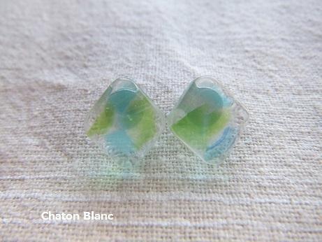 ブルー&グリーンの◇ピアス