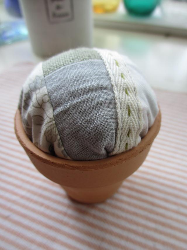 植木鉢サシェ(ステッチ)