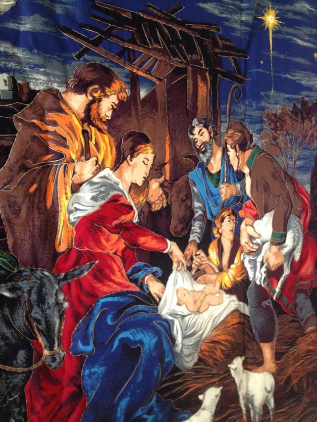 大きなクリスマスタペストリー『聖なる夜』
