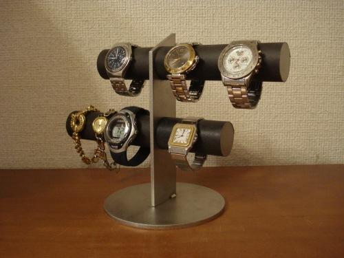 彼氏へのプレゼントに!ブラック6本掛け腕時計スタンド スタンダード ak-design