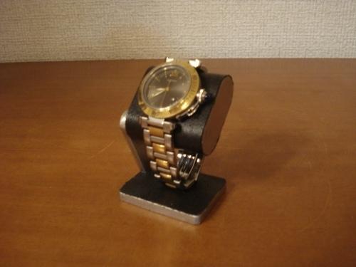 コンパクトだ円腕時計スタンド ベルトブラック台座接触バージョン ak-design