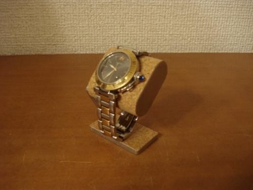 コンパクトだ円腕時計スタンド ベルトコルク台座接触バージョン  ak-design