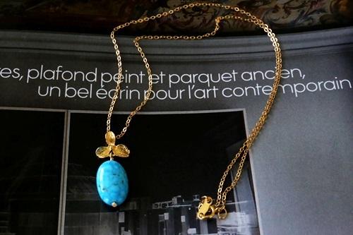 (14kgf) kingman Turquoise ネックレス(45cm)[nc1099]