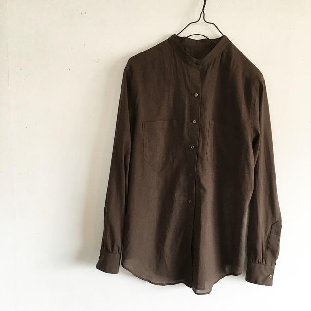 ベーシックなスタンドカラーのシャツ(o-to-022)