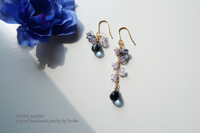 ?Lady Smoky Blue&purple pierce?アメジ...