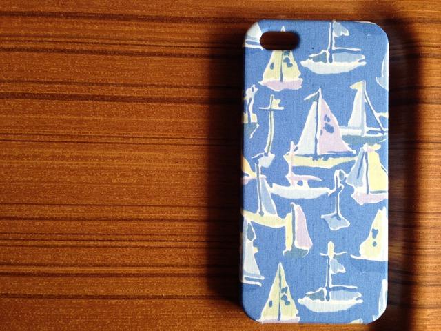 iphone5/5s*新色*deben*リバティ*ブルー系*ケース