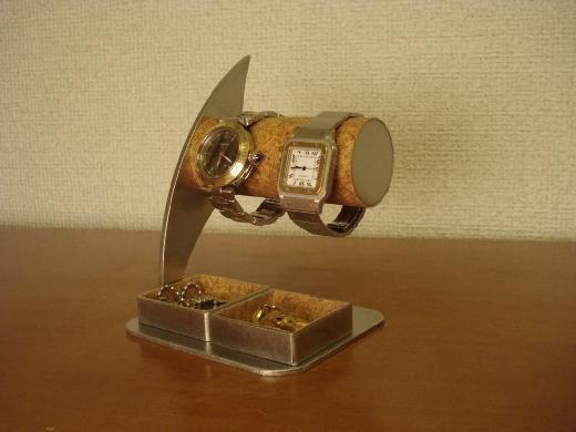 カップルに! ダブルトレイ付き腕時計スタンド ak-design