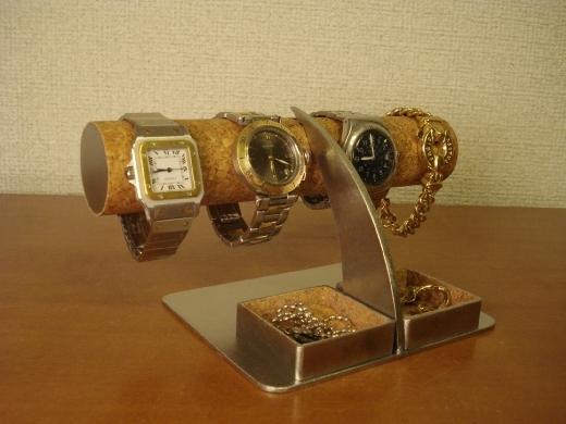 誕生日プレゼントに!アクセサリー角ダブルトレイ腕時計スタンド ak-design