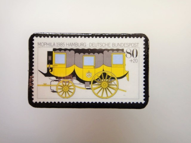 ドイツ  切手ブローチ1469