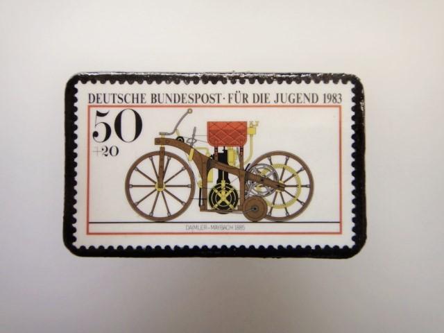 ドイツ  切手ブローチ1471