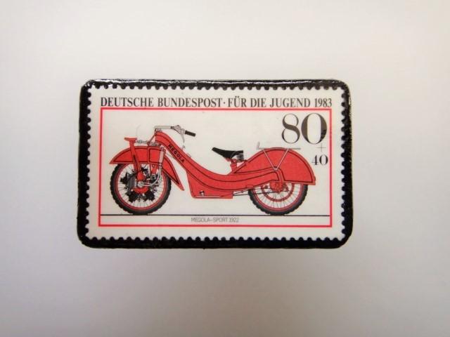 ドイツ  切手ブローチ1473