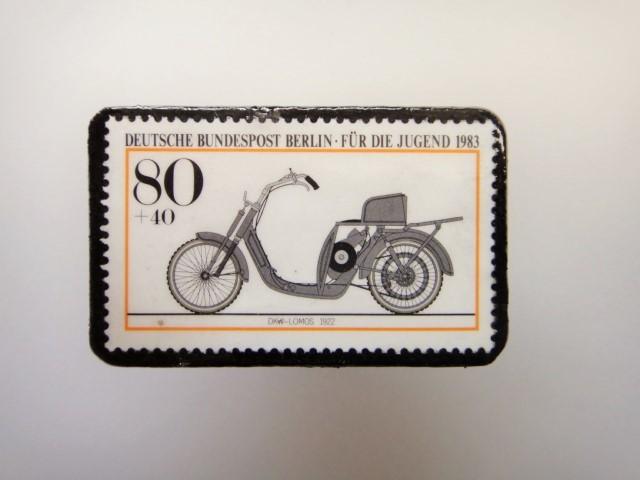ドイツ  切手ブローチ1474