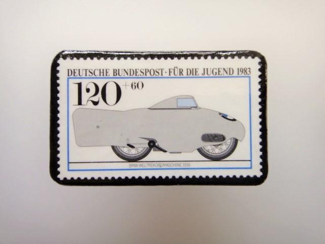 ドイツ  切手ブローチ1475