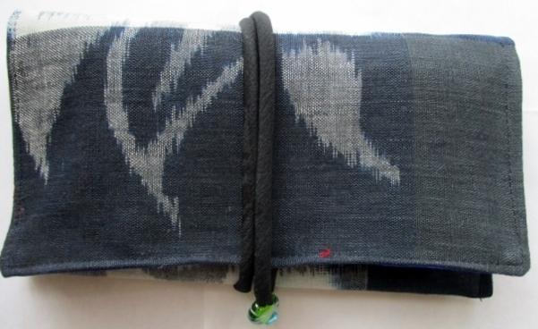 着物リメイク 絵絣で作った和風財布 1798