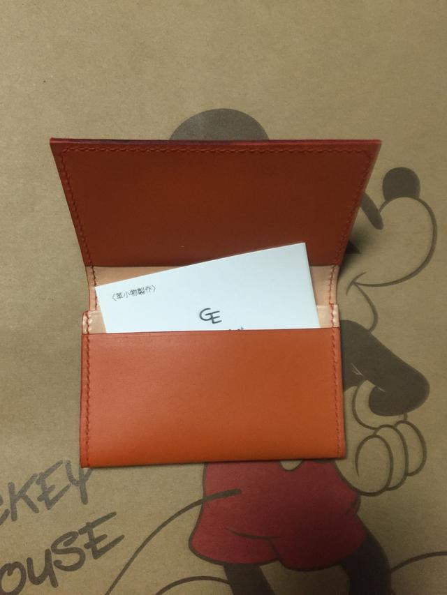 newest 8a985 aa26e エルメス仕様革名刺入れ(オレンジ) | ハンドメイドマーケット minne